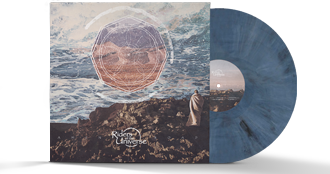 Limited edition 180g unique mixed blue & white & black coloured vinyl in gatefold jacket
